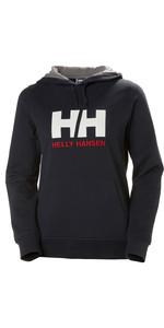 2020 Helly Hansen Frauen Hh Logo Hoodie 33978 - Navy