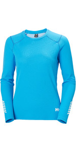 2020 Helly Hansen Frauen Helly Hansen Active Crew Top 49393 - Bluebird