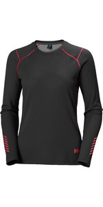 2020 Helly Hansen Frauen Helly Hansen Active Crew Top 49393 - Ebenholz