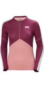 Helly Hansen Womens Lifa Active Light Long Sleeve T Shirt Shell Pink 48369