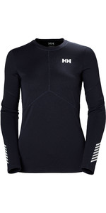 2019 Helly Hansen Donna Lifa Active Light Manica Lunga Blu Graphite 49329