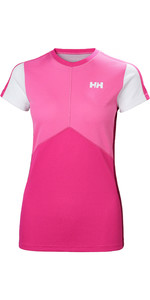 2019 Helly Hansen Donna Lifa Active Light Manica Corta Dragon Fruit 49328