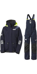 Conjunto De Jaqueta E Calças Combinadas Coastal Helly Hansen Pier Feminino 2020 - Navy