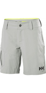 2019 Helly Hansen Frauen Qd Cargo Shorts Grey Fog 33942
