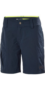 2021 Helly Hansen Frauen Qd Cargo Shorts Navy 33942
