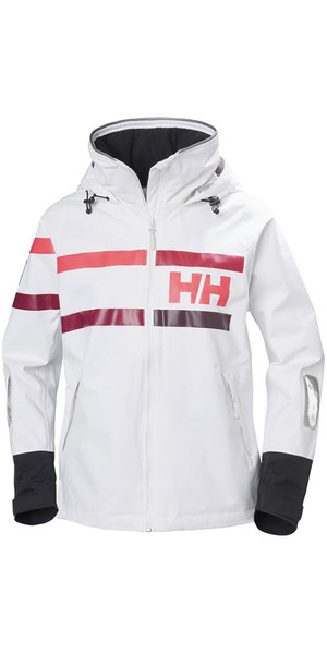 2018 Helly Hansen Womens Salt Power Jacket White Plum 36279
