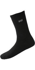 2020 Helly Hansen 2 Chaussettes En Laine Tous Les Jours 67481 - Noir