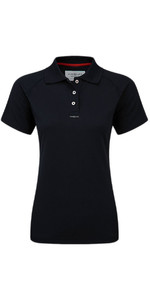 Henri Lloyd Womens Fast Dry Polo T-Shirt in nero Y30279