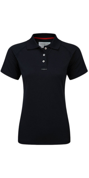 2018 Henri Lloyd Womens Fast Dry Polo T-Shirt in Schwarz Y30279