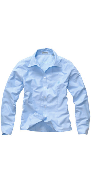 Henri Lloyd signore Oxford LS Shirt Ice Blue Y35069