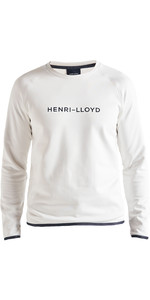 2020 Henri Lloyd Fremantle Stripe Crew Sweat Nuage Blanc Hommes P191104011