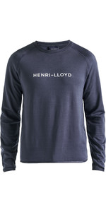 2020 Henri Lloyd Mens Fremantle Stripe Crew Sweat Navy Blue P191104011