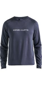 2019 Henri Lloyd Mens Fremantle Stripe Crew Sweat Navy Blue P191104011