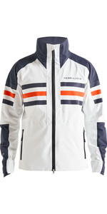 2020 Henri Lloyd Mens Fremantle Stripe Gore-Tex Jacket Cloud White P191101002