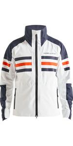 2020 Henri Lloyd Mens Fremantle Stripe Gore-Tex Jacket Cloud White P191101002