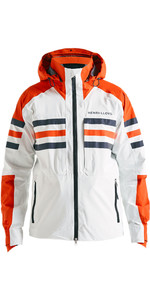 2020 Henri Lloyd Mens Fremantle Stripe Hooded Gore-Tex Jacket Cloud White P191101001