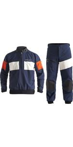 2020 Henri Lloyd M- Dos Homens Pro 3 Camadas Jaqueta Gore-tex E Calças Set Combi - Navy