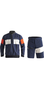 2020 Henri Lloyd Mens M-Pro 3 Layer Gore-Tex Sailing Smock & Shorts Combi Set - Navy