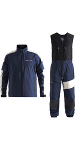 2020 Henri Lloyd Mens M-Race / M-Pro 3 Layer Gore-Tex Jacket & Trouser Combi Set - Navy