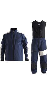 Jaqueta Henri Lloyd Masculina M-race / M- Pro 3 Camadas Gore-tex E Conjunto Combinado De Calças - Navy