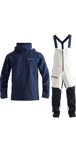 2020 Henri Lloyd Mens M-Course 2.5 Layer Inshore Jacket & Trouser Combi Set - Navy / Cloud White