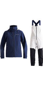 2020 Henri Lloyd Womens M-Course 2.5 Layer Inshore Jacket & Trouser Combi Set - Navy / Cloud White