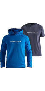2020 Henri Lloyd Mens Mav Hoody & Fremantle Tee Bundle - Victoria Blue / Navy