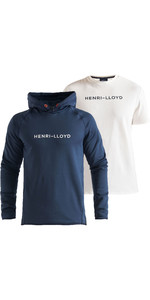 2020 Henri Lloyd Mens Mav Hoody & Fremantle Tee Bundle - Navy / Cloud White