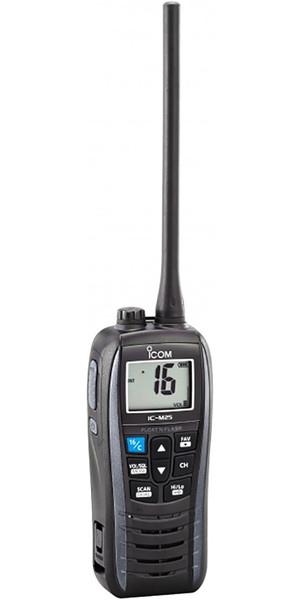 2018 ICOM M25 Waterproof Handheld VHF Radio Grey VHF0160
