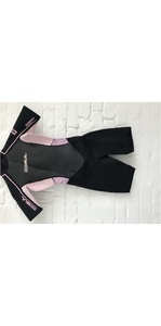 GUL Response Womens 3/2 Shorty Wetsuit Flatlock In Black / Pink