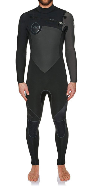 2018 Quiksilver Highline Plus 3 / 2mm Bryst Zip Wetsuit JET BLACK EQYW103049