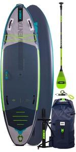 2021 Jobe Aero Venta 9'6 Stand Up Paddle Board Paket - Board, Tasche, Pumpe, Paddel & Leine