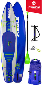 "2020 Jobe Opblaasbare Stand Up Paddle Board 11'6 X 31 ""incl Paddle, Rugzak, Pump & Leash - Blauw"