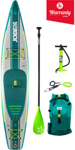 "2019 Jobe Neva Opblaasbare Stand Up Paddle Board 12'6 X 30 ""inc Paddle, Rugzak, Pump & Leash"