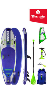 "2019 Jobe Venta Oppustelig Stand Up Paddleboard 9'6 x 36 ""INC 3.5m Sejl, Padle, Pumpe, Taske & Leash"