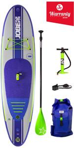 Pagaie gonflable 2019 Jobe Yarra pour stand up paddle, palette, sac à dos, pompe et Leash 10'6 x 32