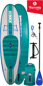 "2019 Jobe Opblaasbare Stand Up Paddle Board 10'6 X 32 ""inc Paddle, Rugzak, Pump & Leash"