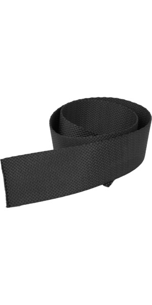 Kingfisher 50mm Toestrap Webbing Black TSWX50