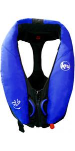 Colete salva-vidas automático Kru Elite 195N com arnês + capuz azul oceano LIF7423