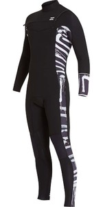 Billabong Furnace Revolution 3/2mm Wetsuit Met Chest Zip Zwart Print L43m06