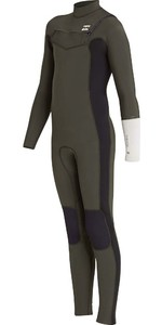Billabong Junior Furnace 4/3mm Chest Zip Anzug Dunkel Olive L44b04