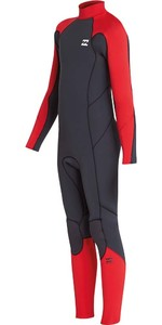 2019 Billabong Júnior Furnace Absolute 4/3mm Back Zip Wetsuit Vermelho L44b06