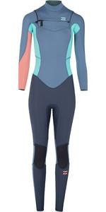 2018 Billabong Junior Girls Furnace Synergy 5/4mm Chest Zip Wetsuit Slate L45B01