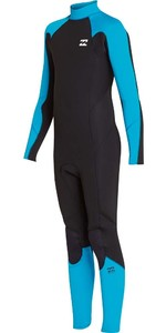 2018 Billabong Junior Fornecimento Absolute 5 / 4mm Zip Wetsuit Voltar Lagoa Azul L45B06