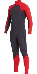 Billabong Furnace Absolute 5/4mm Back Zip Wetsuit Red L45M10