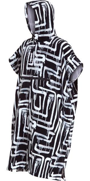 2018 Billabong Packable Hooded Poncho Black Print L4BR11