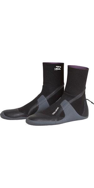 2019 Billabong Ofen Absolute 3mm Runde Zehe Boot Schwarz L4BT11