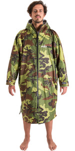 2020 Dryrobe Advance Long Sleeve Premium Outdoor Change Robe / Poncho DR104 - Camo / Grey