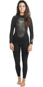 2019 Billabong Womens Launch 4 / 3mm GBS Neoprenanzug Schwarz 044G01