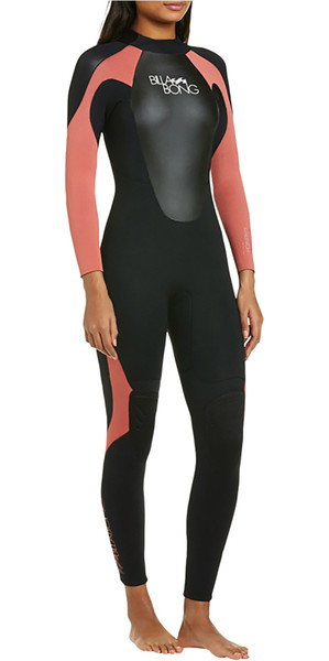2019 Billabong Womens Launch 4 / 3mm Combinaison GBS Noir / CERISE 044G01